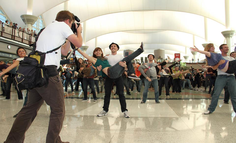 Joe DeMers is Choreographer for DIA Flash Mob
